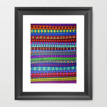 Happy Camper Framed Art Print by Erin Jordan | Society6