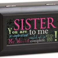 Cottage Garden Sister Matte Black Petite Music Box / Jewelry Box Plays You Light Up My Life