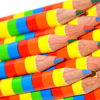Rainbow Stripe Pencil : gifts for artists : Stubby Pencil Studio