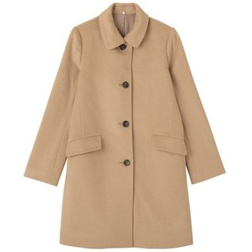 Women Wool Bal Collar Coat