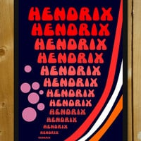 Psychedelic Hendrix Glass Framed Poster