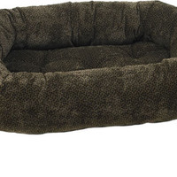 Bowsers Chocolate Bones Microvelvet Donut Dog Bed