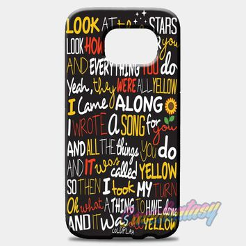 Coldplay Yellow Samsung Galaxy S7 Case