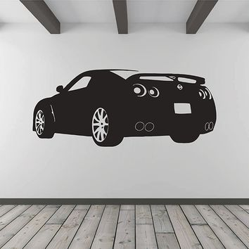 ik2888 Wall Decal Sticker Race Sports Car living room bedroom