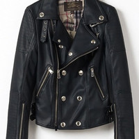 'The Madisen' Black Leather Motorcycle Jacket