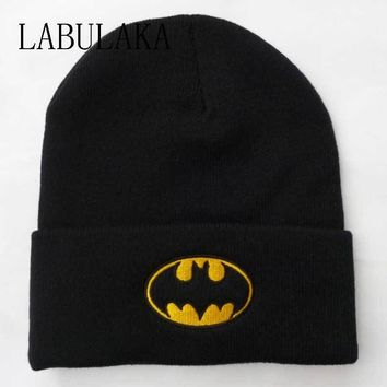 New Winter Caps Women Batman Face Mask Unisex BBOY Black Hip Hop Skullies&Beanies Men Cotton Knit Gorro Ski Bonnet Balaclava