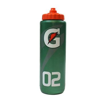 DCCKU7Q New Jersey Nets Green and Orange Individual Gatorade Water Bottle