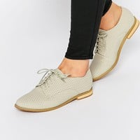 Lost Ink Beat Grey Lace Up Flat Shoes