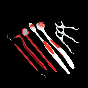 8Pcs/Set Oral Hygiene Cleaning Tools Set Portable Travelling Dental Care Remove Stains Toothbrush Teeth Cleaner Kits