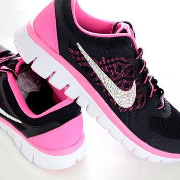 FREE SHIPPING - Nike Flex 2015 - Crystal AB Rhinestone Running Athletic Training Shoes