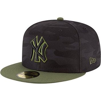 New Era New York Yankees 2018 Memorial Day On-Field 59FIFTY Fitted Hat – Black/Olive