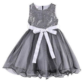 Girls Sequin Sleeveless Dress