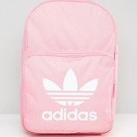adidas Originals Trefoil Logo Backpack In Pink at asos.com