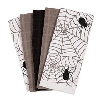 Assorted Spider Web Kitchen Towels (Set of 5)