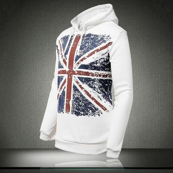 Mens Faded England Graphic Pullover Hoodie