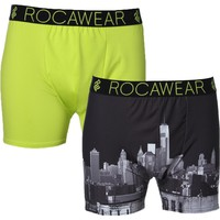Rocawear Mens 2PK Moisture Wicking Boxer Briefs