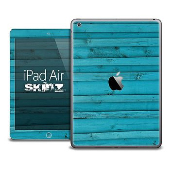 The Blue Wood Planks Skin for the iPad Air