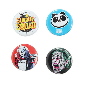 Suicide Squad Bomb Logo & Characters Pin Set