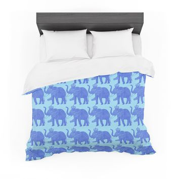 "BarmalisiRTB ""Exist Elephant"" Brown Orange Fantasy People Digital Illustration Featherweight Duvet Cover"