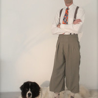 Vintage style plus fours, 1920's knickerbockers, retro mens trousers, Tintin trousers