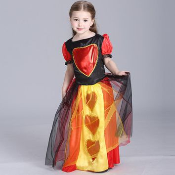 Girls Halloween Costumes Queen Dress For Baby Girl Children Cosplay Clothing Kids Party Dresses Toddler Princess Clothes