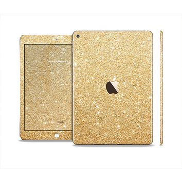 The Gold Glitter Ultra Metallic Skin Set for the Apple iPad Air 2