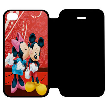 Minnie Mouse Kiss Mickey Mouse iPhone 4 | 4S Flip Case Cover