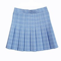 A-line Plaid pleated skirt Uniform high waist Skirt classical Gray&khaki&blue&pink lattice