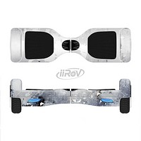 The Grunge White & Gray Texture Full-Body Skin Set for the Smart Drifting SuperCharged iiRov HoverBoard