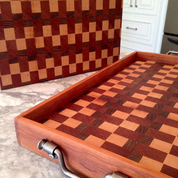Cutting Board and Matching Tray