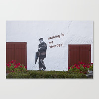 A Gentleman goes walking; Camino to Santiago de Compostela Canvas Print by janicemf