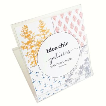 2019 Idea Chíc Patterns Desk Calendar