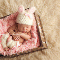 Miss Bunny Hat and Leg Warmers Set  — Gracie's Garden Designs
