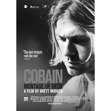 Kurt Cobain Montage Of Heck poster Metal Sign Wall Art 8in x 12in Black and White