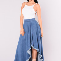 Caroline Denim Skirt - Denim Blue