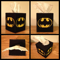 Batman Tissue Box Cover by K8BitHero on Etsy