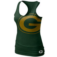 Nike Green Bay Packers Women's Big Logo Tri-Blend Tank - Green