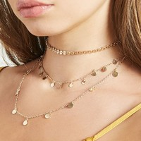Layered Chain Choker Set
