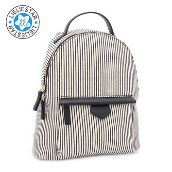 women small backpacks kanken striped schoolbag feminine canvas printing sac a dos school bag for girls 2017 female mini backpack