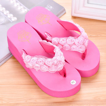 Design Stylish Summer Floral Slippers Beach Home Sandals [6034238657]