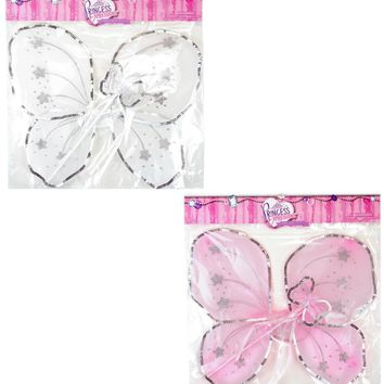 small sequin butterfly fairy wing & wand sets Case of 48