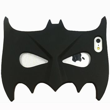 Batman Dark Knight gift Christmas 3D Cartoon for iPhone 8 Case Cute Halloween Masquerade Bat Batman Mask Soft Rubber Silicone For iPhone 5 5S SE 6 6S 7 Plus Cover AT_71_6