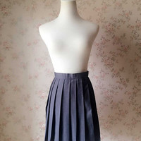 Women or Girls Skirt Fashion Chic Mini Skirt High Waisted Short Skirt Pleated School Skirts Tennis Skirt Full Pleated Skirts Navy Skirts