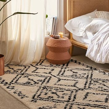 Wandering Lines Shag Rug | Urban Outfitters