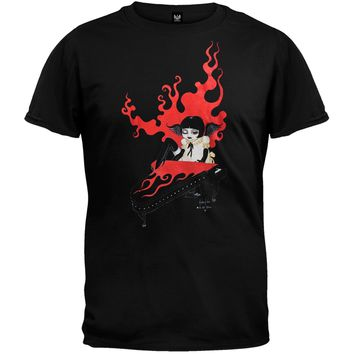 Goth Piano Girl T-Shirt - Medium