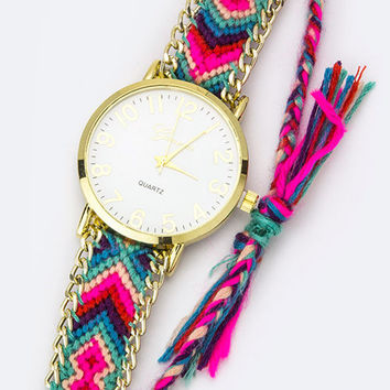 Fuchsia Misanga Watch