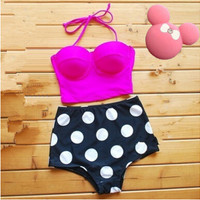 2 Pieces High-waist Bikini Set