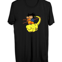 Dragon Ball Z Goku On Kinton Cloud Mens T Shirt