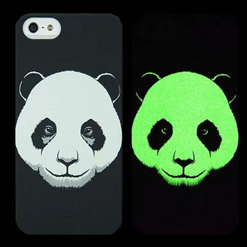 Panda Animal Handmade Sketch Luminous Light Up iPhone creative cases for 5S 6 6S Plus Free Shipping