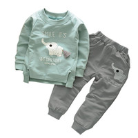 2PCS Toddler Kids Baby Boys Girls Long Sleeve T-shirt+Pants Clothes Outfits Sets